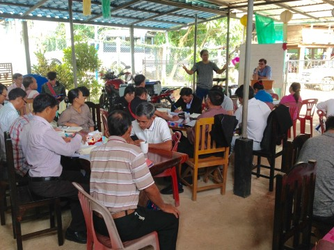 Pastor Chad teaching in Thailand